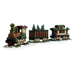 St. Nicholas Square Christmas Village Train Set